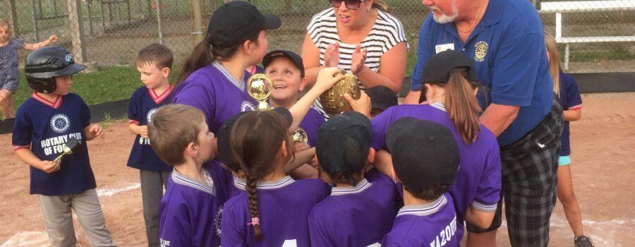 Rotary sponsored FE Minor Baseball Rookie League