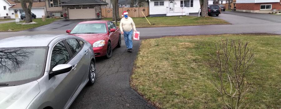 Santa visiting Fort Erie Rotarians